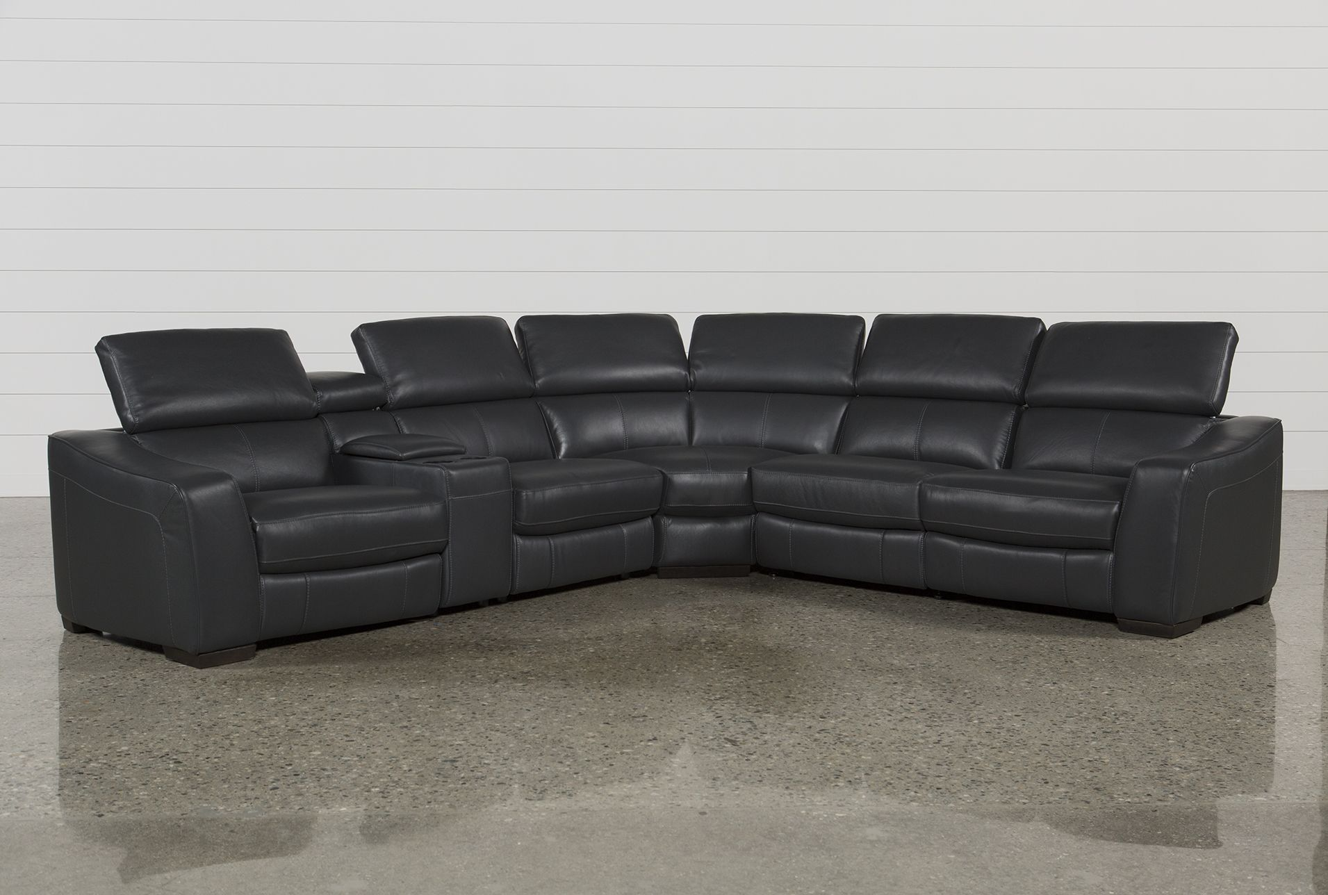 kristen slate grey 6 piece power reclining sectional products rh pinterest com