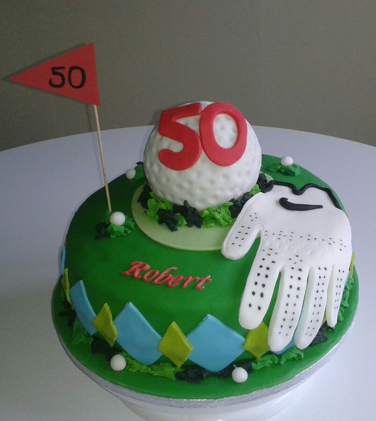 Fabulous Golf Theme Cake 50 Th Birthday Party With Images Golf Birthday Cards Printable Trancafe Filternl