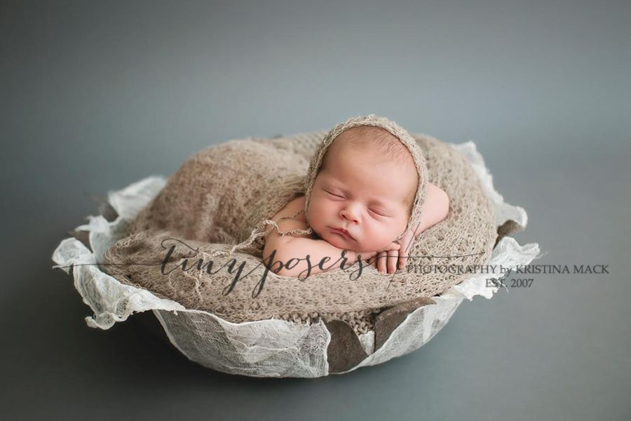 Handmade vessel from fabric beautiful newborn photography prop bowl