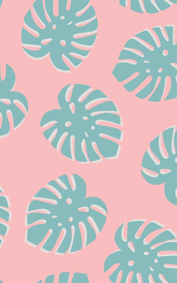 Small Tropical Leaf Repeat Pattern Wallpaper