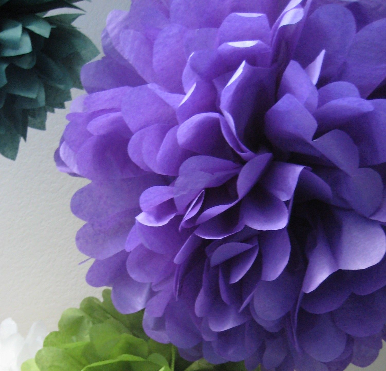 Plum purple 1 tissue paper pom pom diy decor kit fairy garden plum purple 1 tissue paper pom pom diy decor by prosttothehost mightylinksfo Image collections