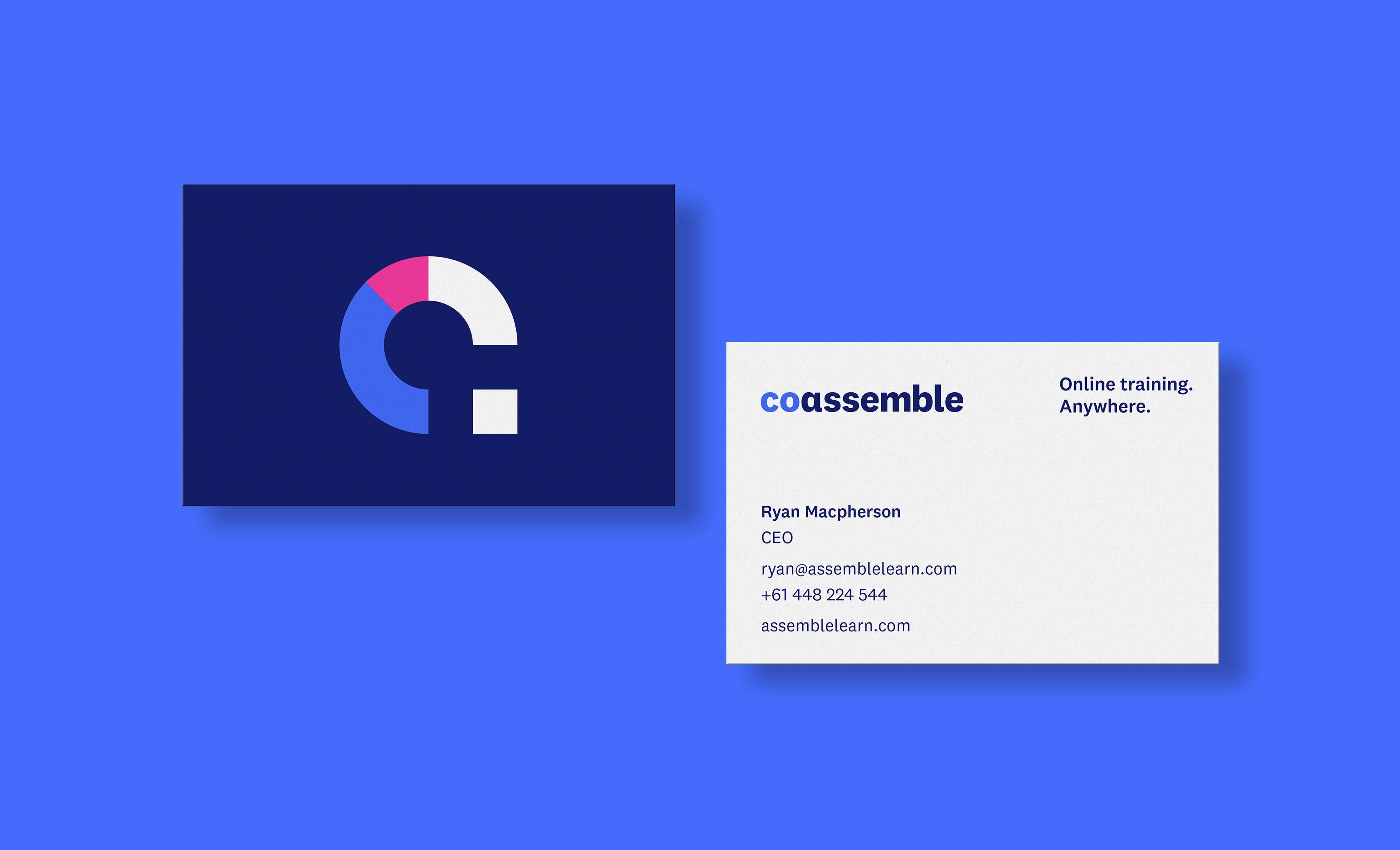 Coassemble Name And Brand Identity Shorthand Studio Shorthand Studio Business Card Design Brand Identity Identity