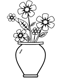 Desenho De Flores Em Vasos Para Colorir Pesquisa Google Lindas