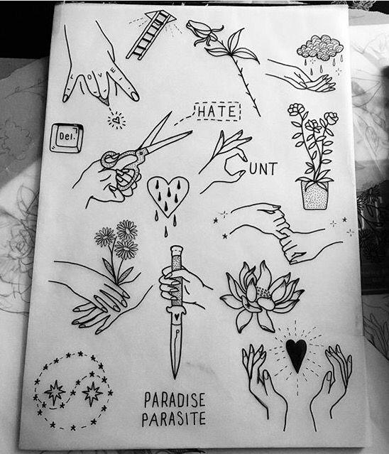 Tattoo Flash Sheet Tattoo Flash Sheet Tattoos Trendy Tattoos