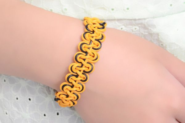 How To Make A Double Wave Friendship Bracelet With Wax Cord Classy Double Wave Friendship Bracelet Pattern