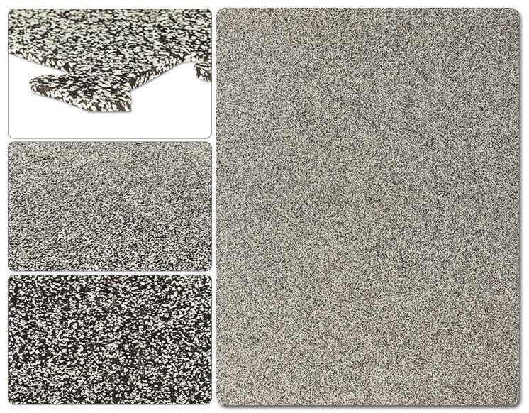 Brava Rubber Floor Tiles Metropolitan Series Williamsburg White