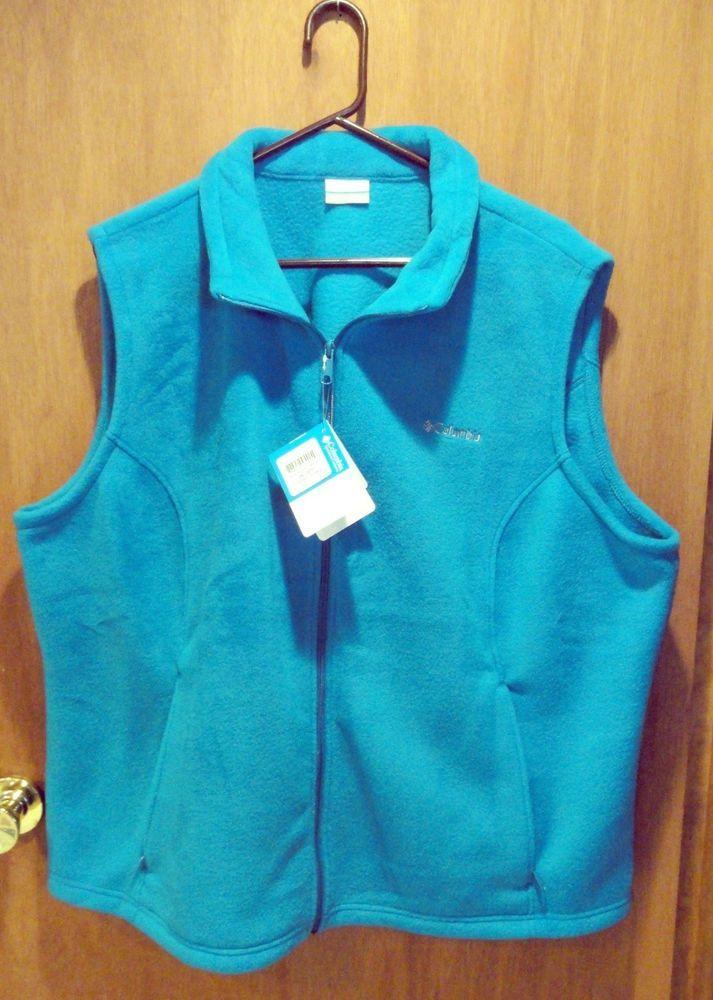 0a146ab4b Womens Plus Size 3X Columbia Fleece Sleeveless Vest Bright Blue NWT ...