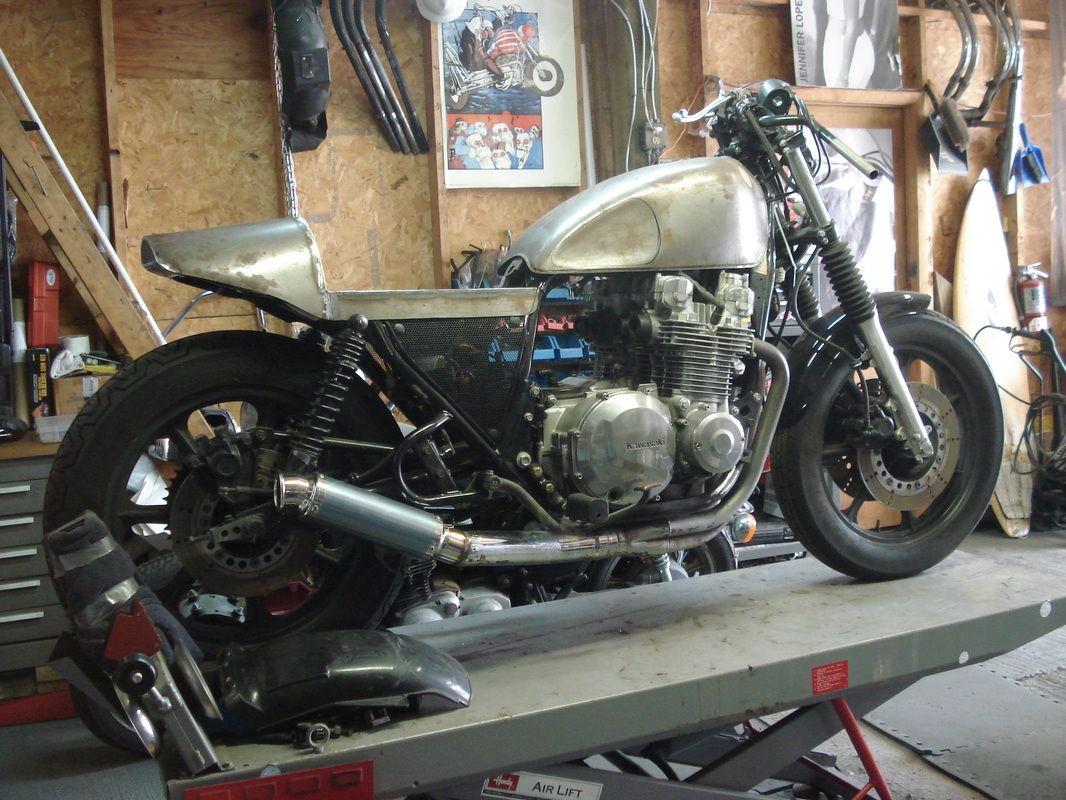 2000 kawasaki kz1000p chp cafe racer bare bone rides [ 1066 x 800 Pixel ]