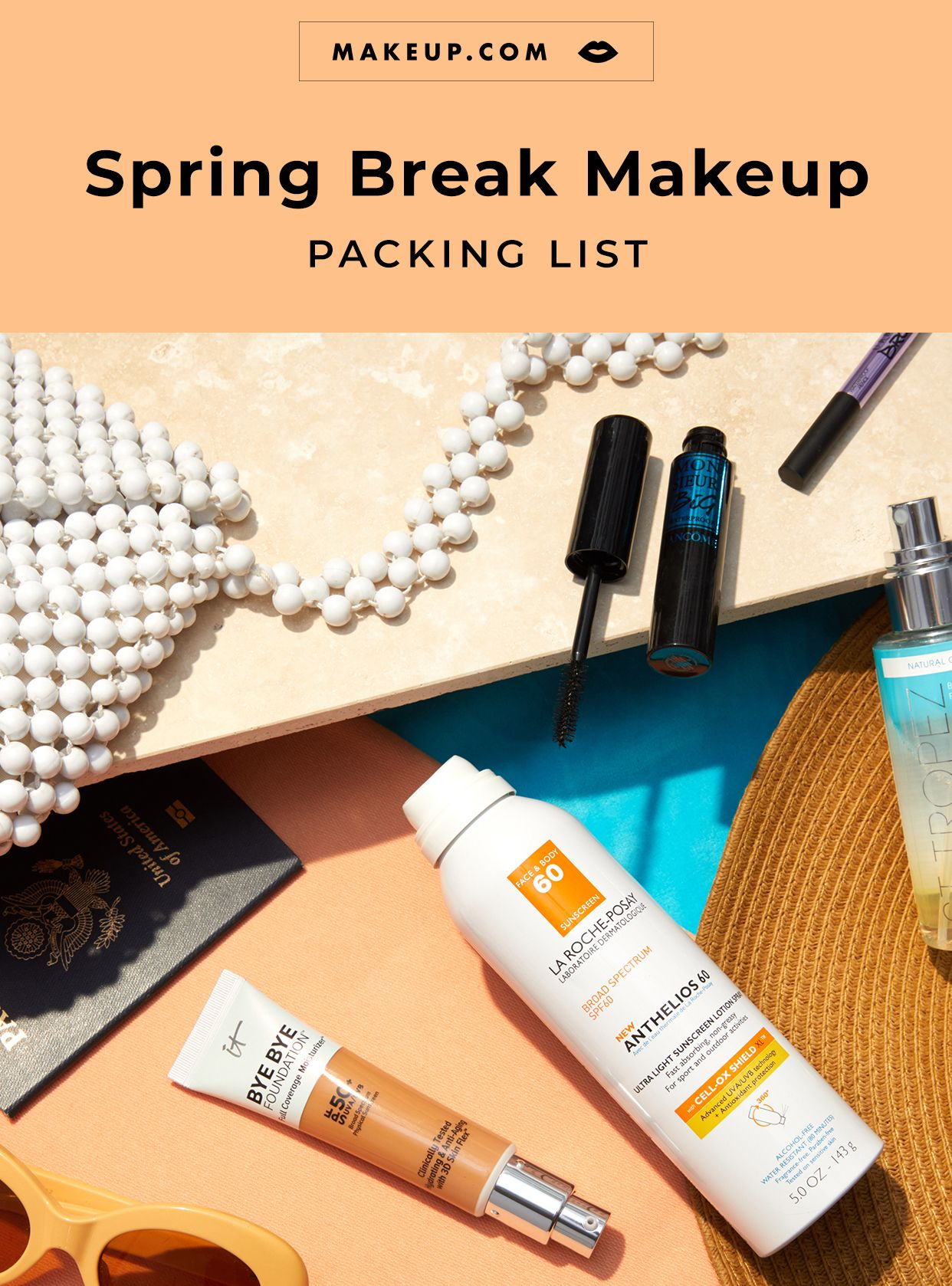 Spring Break Beauty and Makeup Packing List in 2020