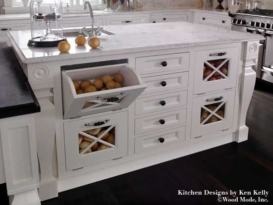I would love built-in vegetable storage to keep non refrigerator ...