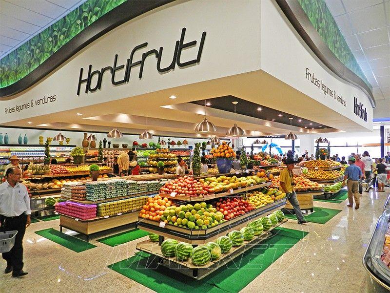 Prómarket Exposição Que Vende Produtos Hortifruti Exposição De Produtos Design De Varejo Nomes De Lojas Criativos