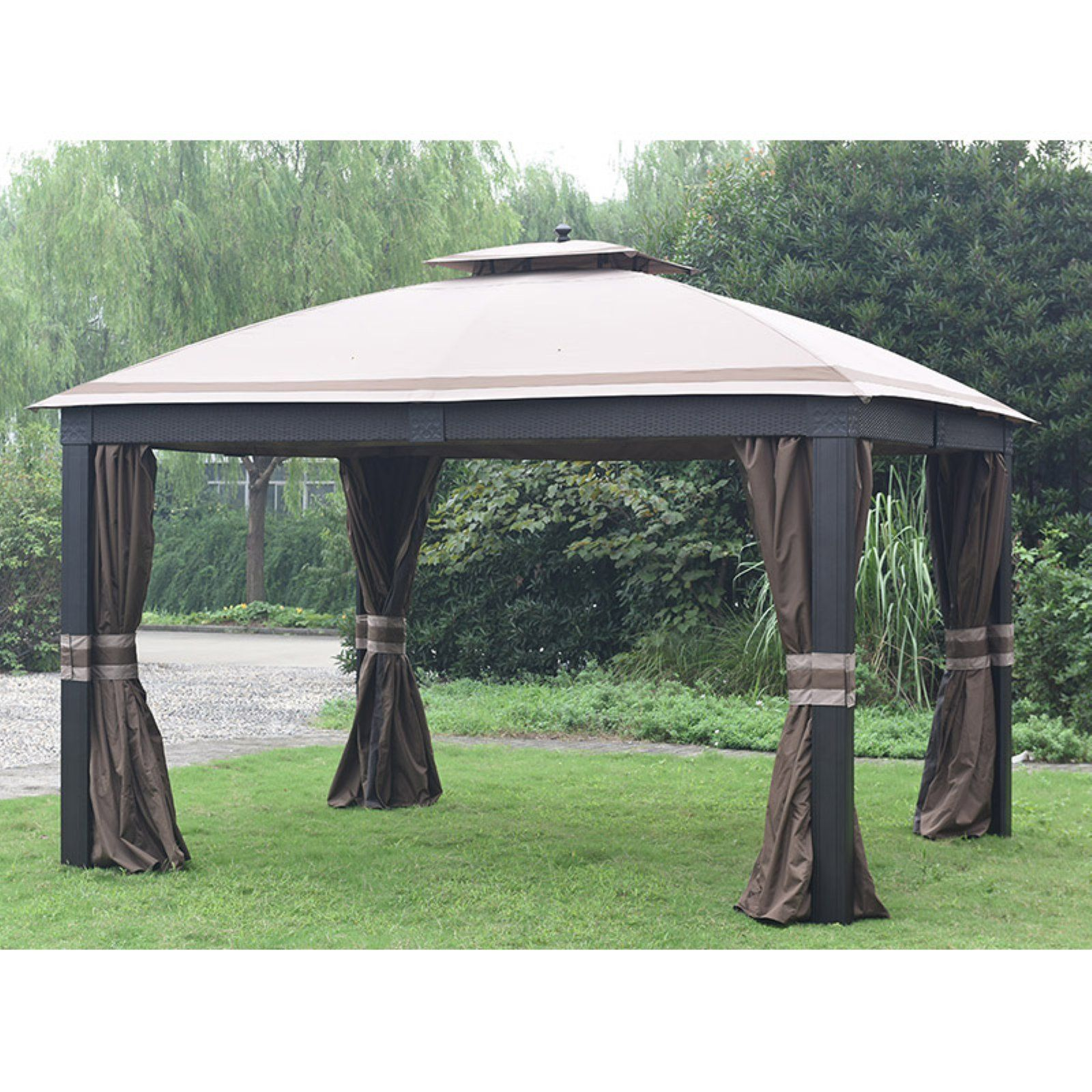 Sunjoy 12 X 10 Ft Replacement Canopy Cover For L Gz815pco F Wicker Gazebo Gazebo Replacement Canopy Gazebo Gazebo Big Lots