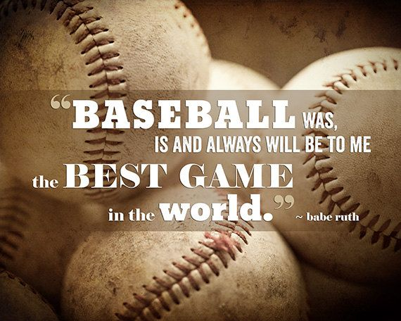 Baseball Quote Prepossessing Baseball Print Babe Ruth Quote Boys' Roomlisarussofineart