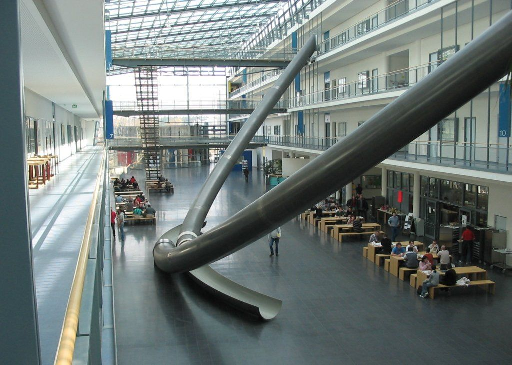 Technische Universität München - Interior of the Faculty Building for Math and Computer Science