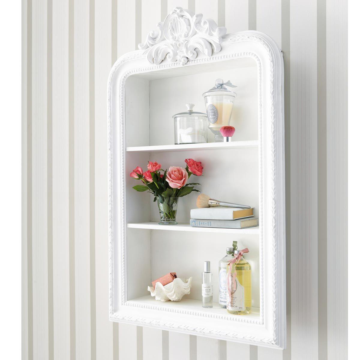 Étagère sculptée blanche L 79 cm en 2019 | Romantique | Etagere ...