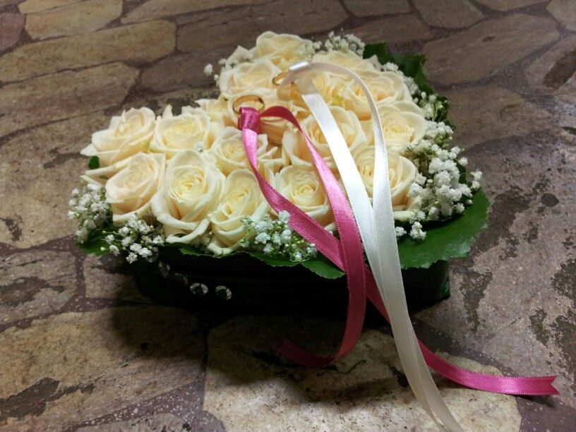 Cuscino Portafedi Cuscino Portafedi Bouquet Da Sposa Fiori Freschi