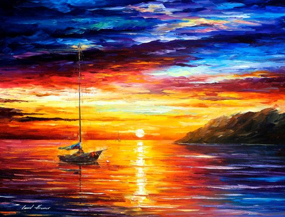 Resting By The Hill — PALETTE KNIFE Oil Painting On Canvas by AfremovArtStudio on Etsy, $339.00