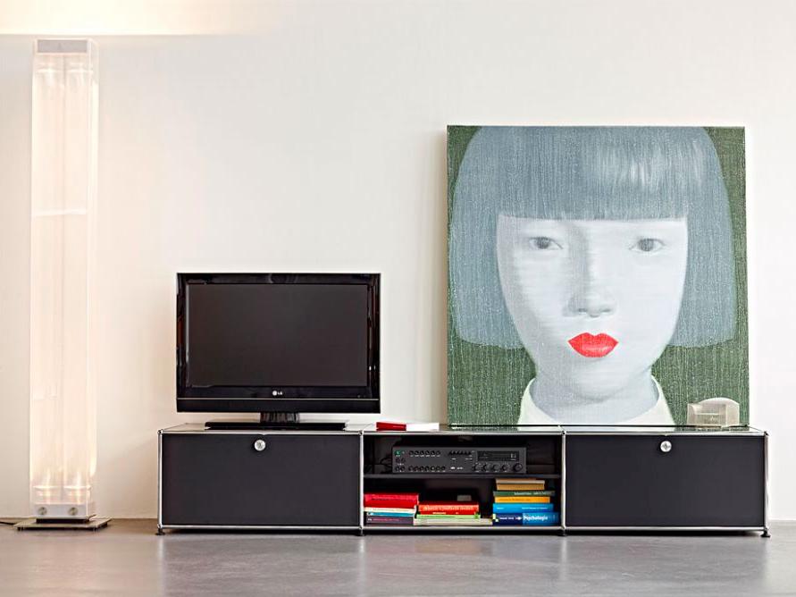 usm haller tv lowboard wohnzimmer pinterest living room modular furniture und tv unit. Black Bedroom Furniture Sets. Home Design Ideas