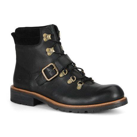 Black Andrew Marc Mens Boots Midwood Natural