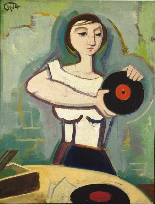 Mädchen mit Schallplatte (1954)