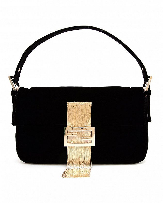 dc04bbfa6 Love the gold fringed clasp!! Fendi Baguette Velvet Bag ...