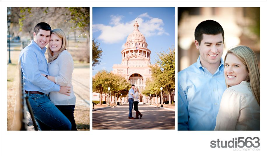 Texas capitol engagement pictures