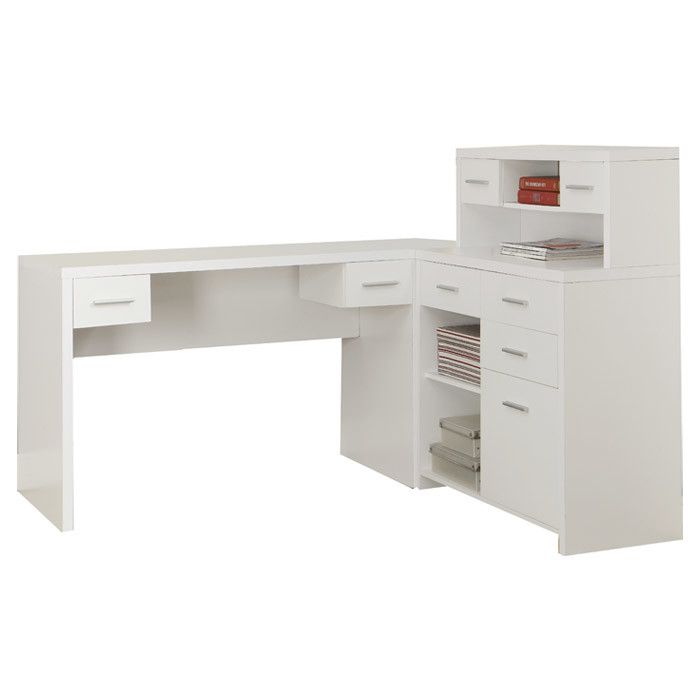 Brayden Studio Covey L-Shaped Home Office Computer Desk & Reviews ...