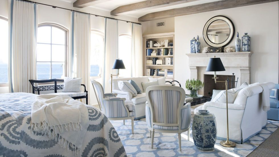 22 Reasons Why Blue Is the Best Color for Decorating Your Home:  Blue ceramics give the room instant color and detail.