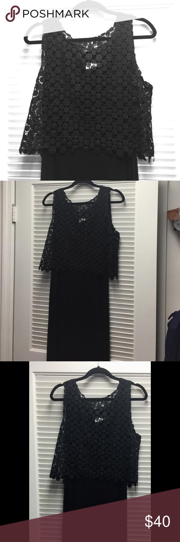 Black long dress, Calvin Klein Beautiful Never used long dress, size 10 Calvin Klein Dresses Maxi