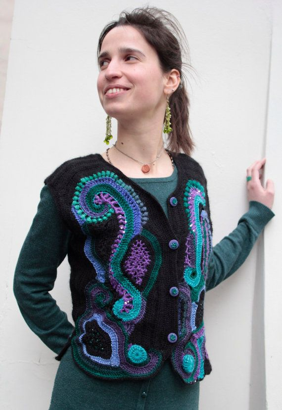 freeform crochet sweater for sale 100 Unique Crochet Shirts and Sweaters
