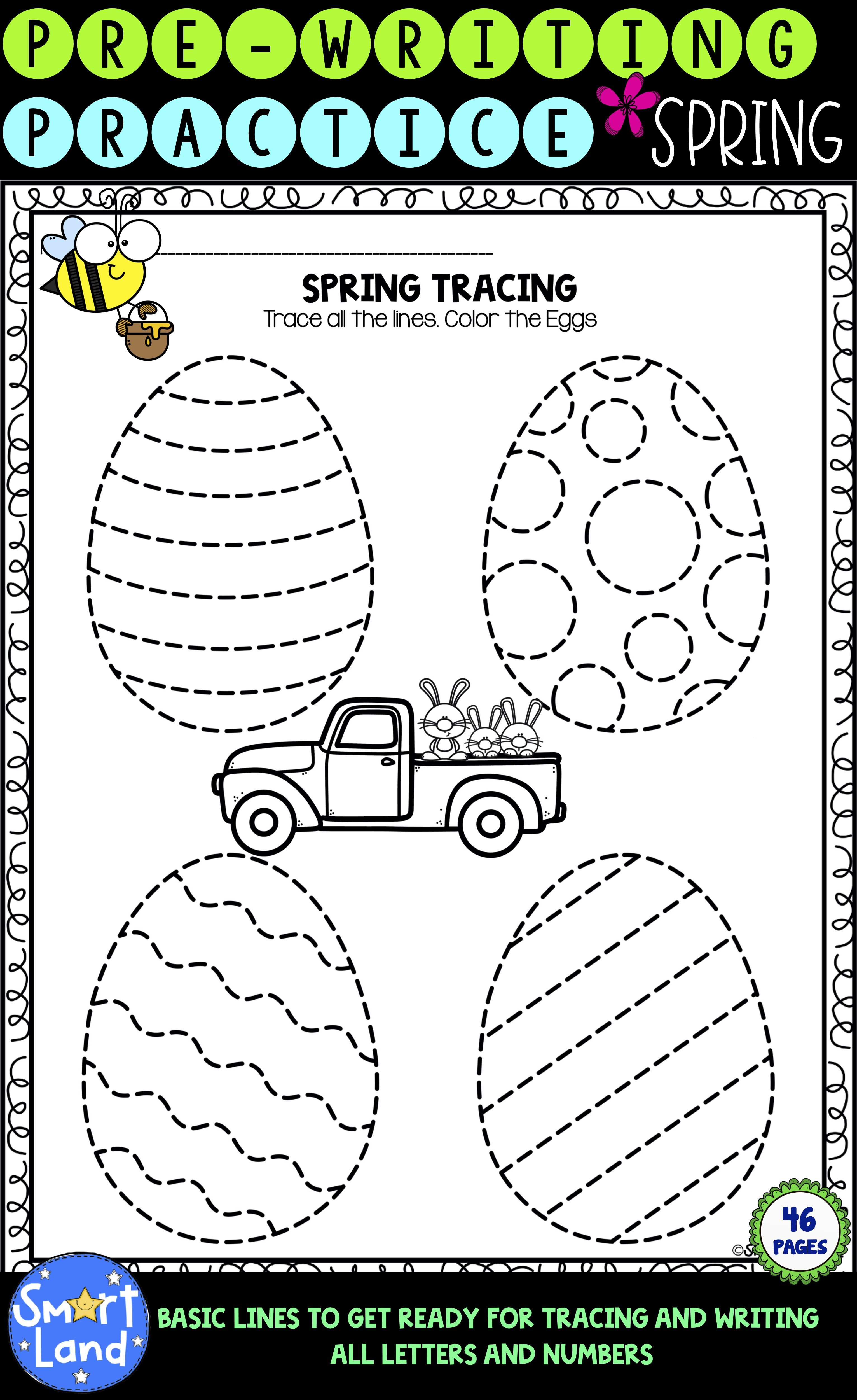 Prewritingpractice Spring Tracing In