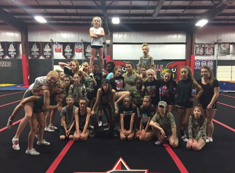 Cheer theme practice- Camo, This is War