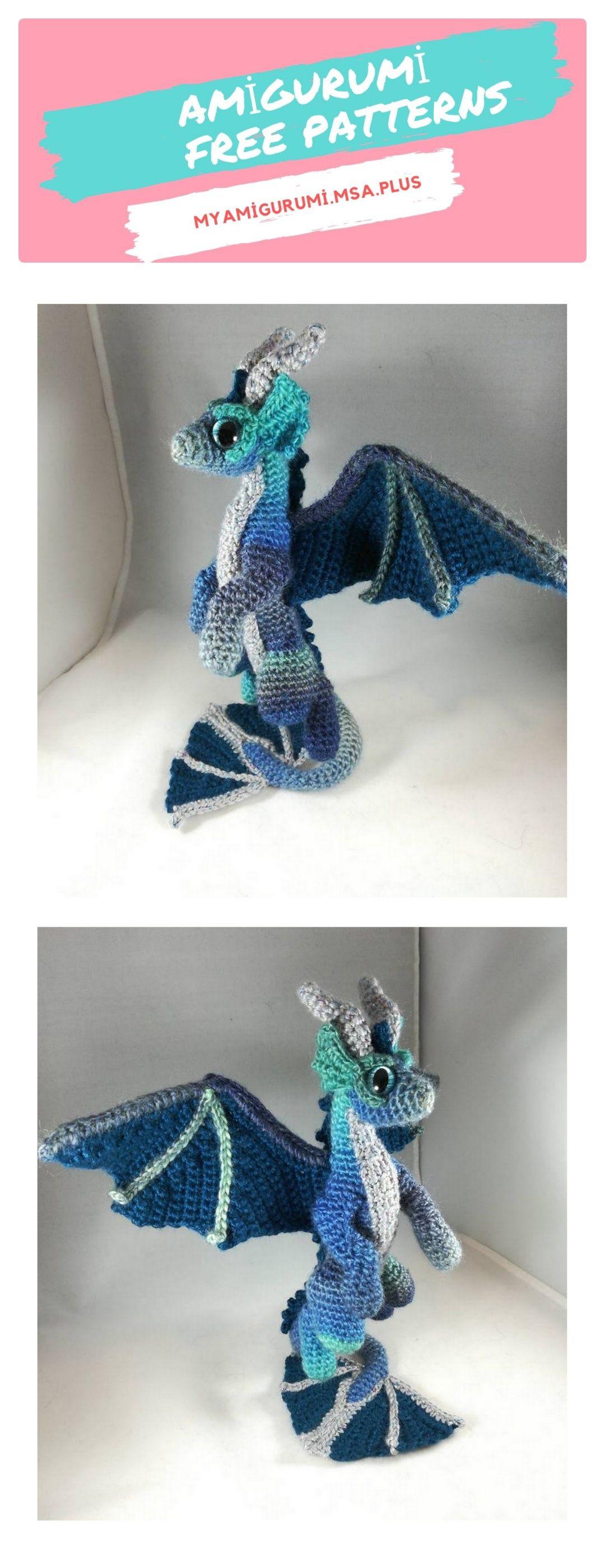 Amigurumi Dragon Free Pattern | Crochet dragon, Crochet dragon ... | 2800x1080