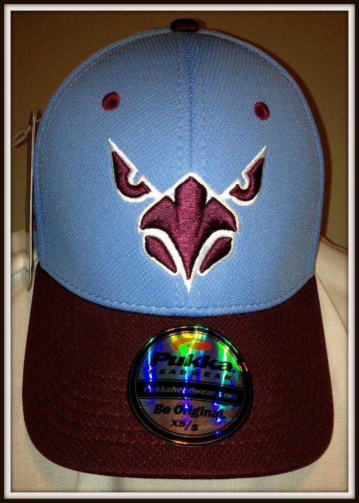 95af1413a5035 PUKKA HEADWEAR ADULT XS S A-FLEX ROYAL BLUE MAROON CAP HAT FREE SHIPPING