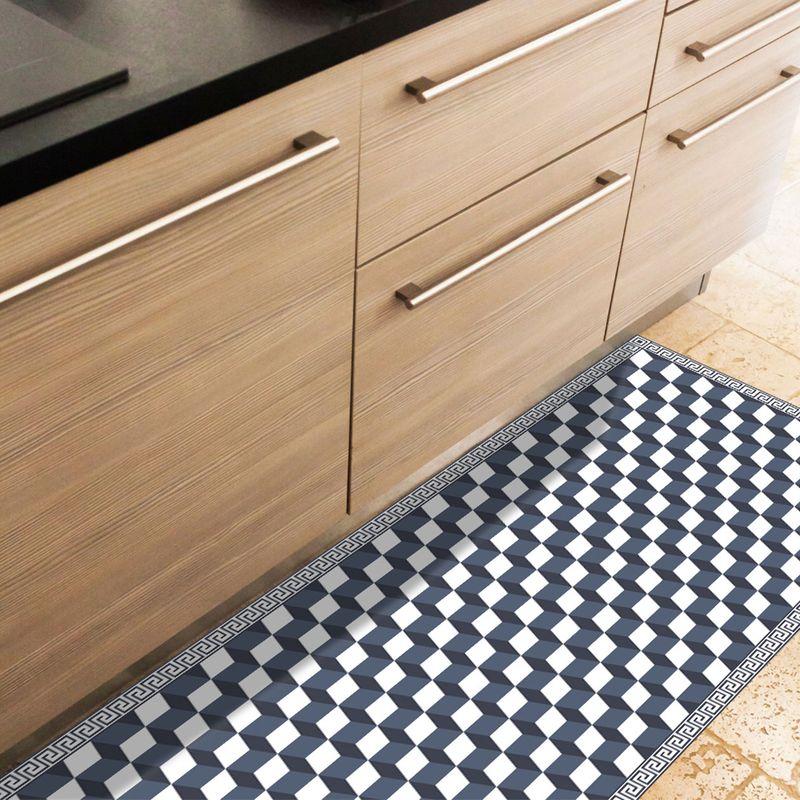 tapis vinyle pour la cuisine motif cube