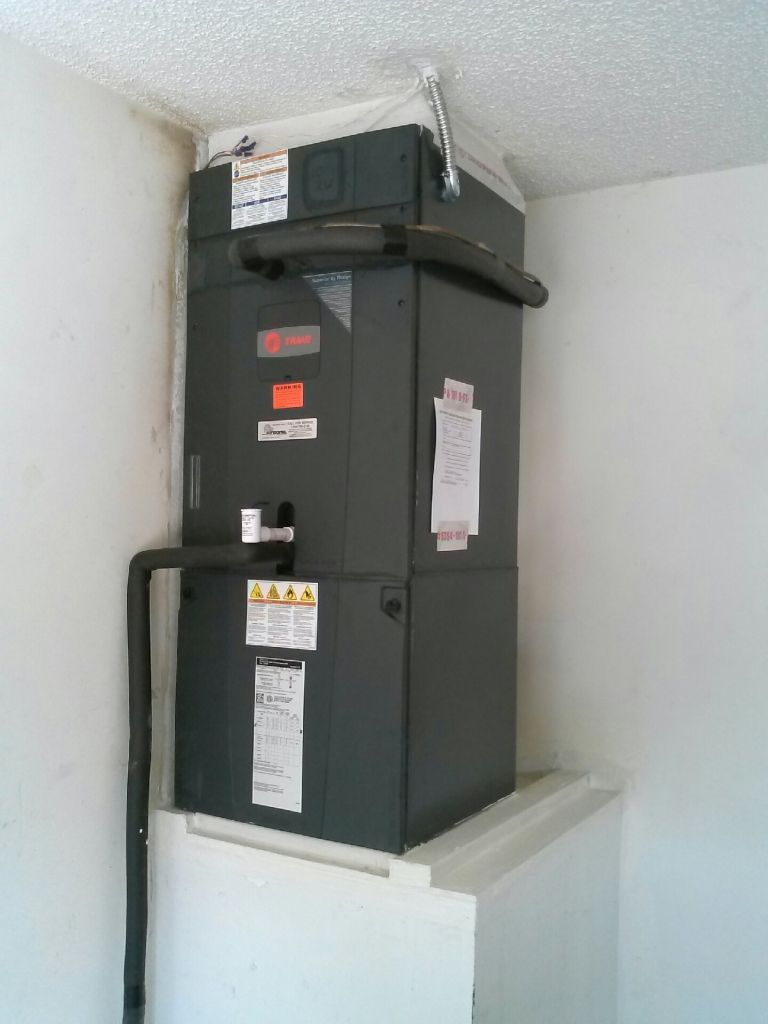 Trane Hyperion High Efficiency Gam5 Air Handler Installed