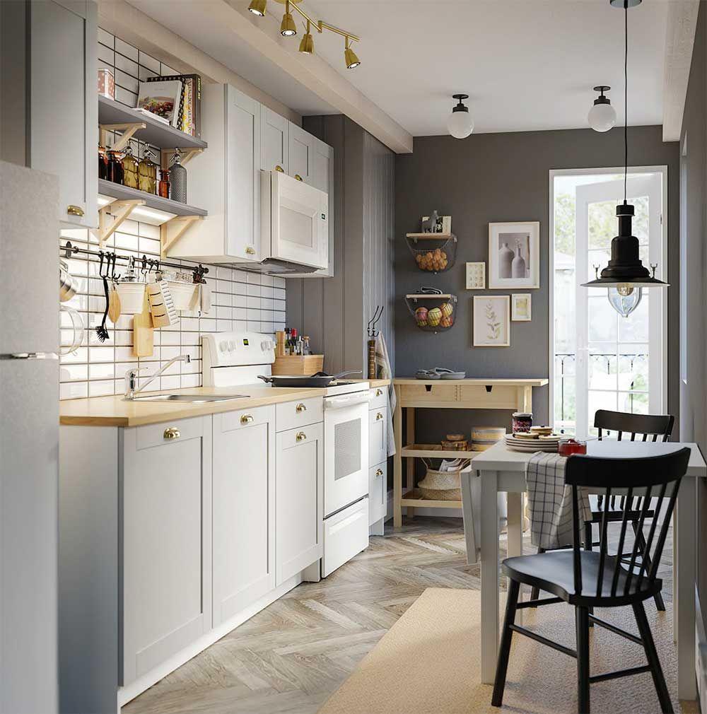 cuisine ikea blanche et noire