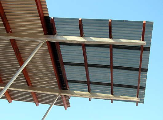 corrugated plastic roofing | Shade Sails, Pergolas ...