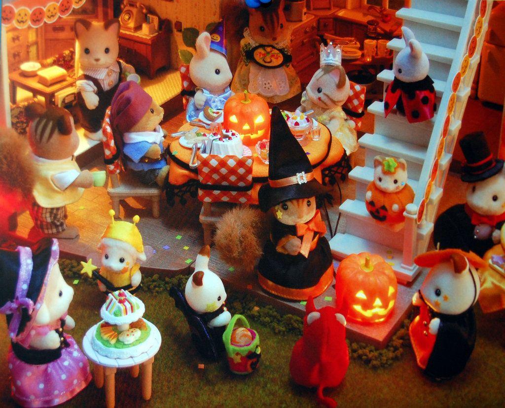Calico Critters Halloween | sylvanian families | Pinterest ...