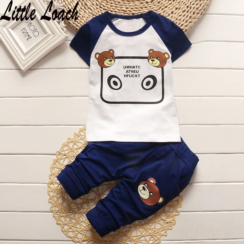 0-3Years Summer Clothing Suits Baby Boys Girls Short Sleeve T-shirt +Half  Pants 2pcs Toddler Clothes Sets Jumpsuit Roupas Menino #Affiliate