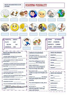 Describing Personality. ESL worksheet of the day by bbubi. March 22 ...