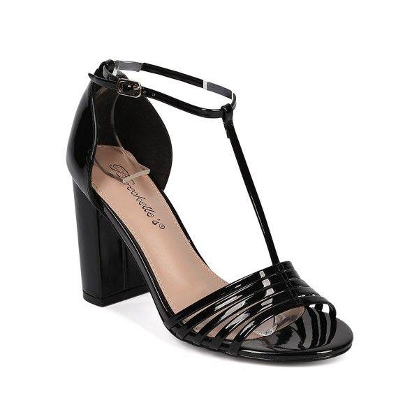 34ad1150eb4e Breckelle s Women T-Strap Block Heel Sandal - Open Toe Chunky Heel - Ankle  Strap