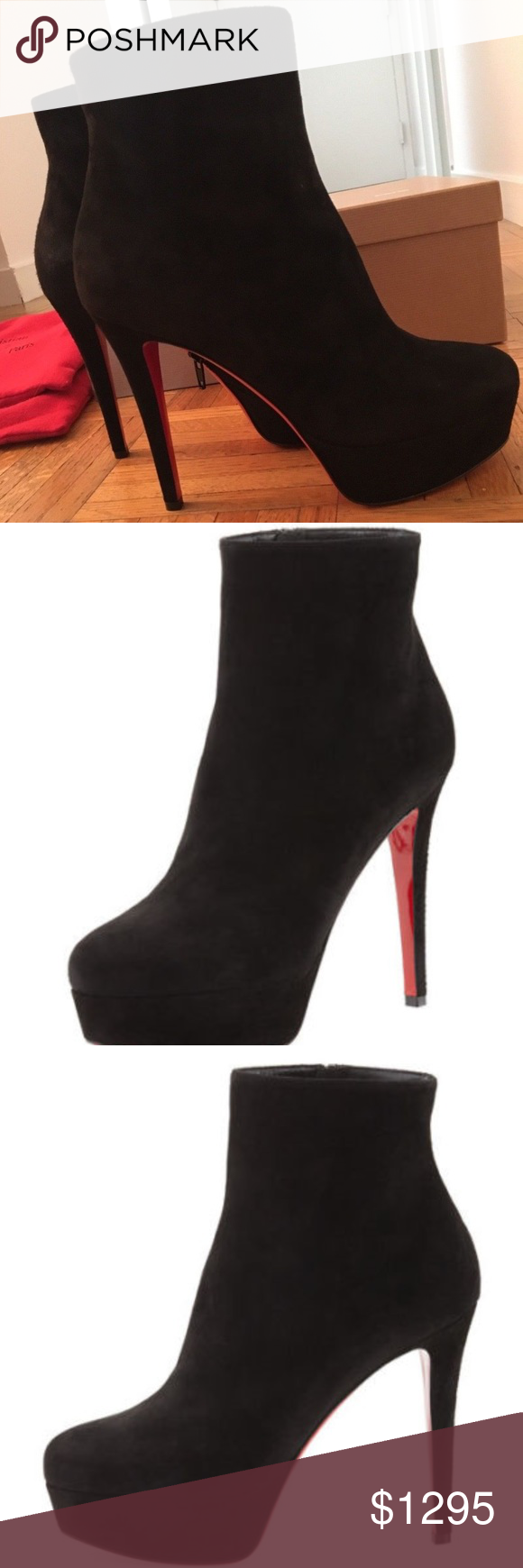 5c9e524a666 Christian Louboutin Bianca Bootie Sz 37 New in Box BRAND NEW IN BOX ...