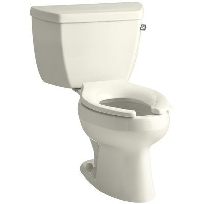 Kohler Wellworth Classic Two Piece Elongated 1 0 Gpf Toilet With Pressure Lite Flushing Technology With Right Hand Trip Lever Less Seat Finish Biscu Traditional Toilets Toilet Wall Hung Toilet