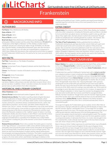 The first page of the pdf versions of the litchart on frankenstein the first page of the pdf versions of the litchart on frankenstein fandeluxe Choice Image