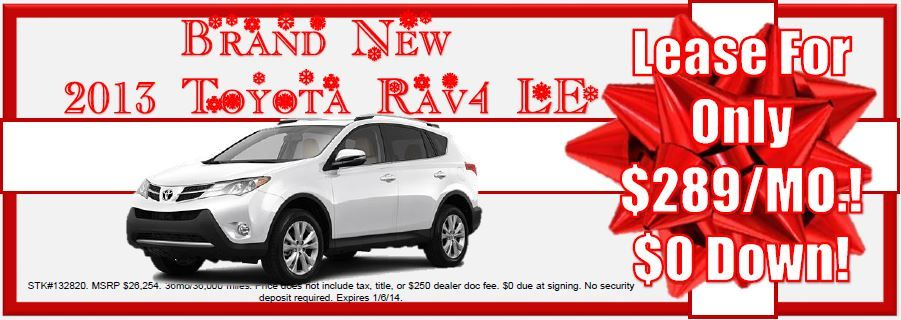 Need the perfect present? Lease a Brand New 2013 Toyota