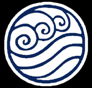Water Tribe Symbol Sticker By Zatanna103 In 2021 Water Symbol Water Tattoo Water Tribe