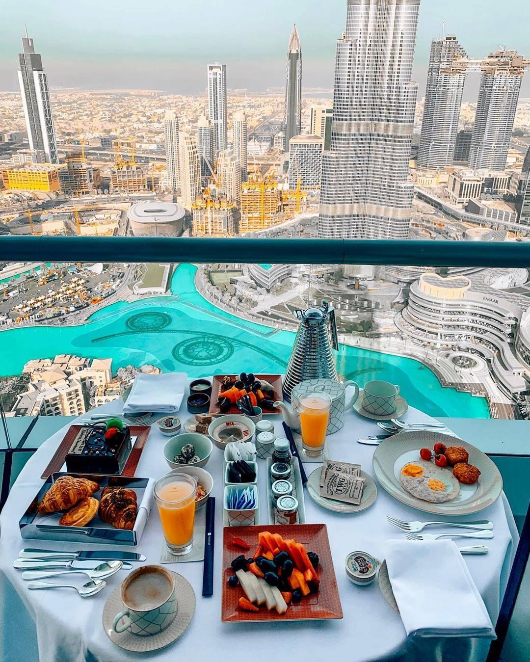 Good morning Dubai, Breakfast with a Great view Visit