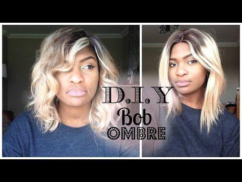 Diy Ombre Bob Tutorial Video Black Hair Information Community