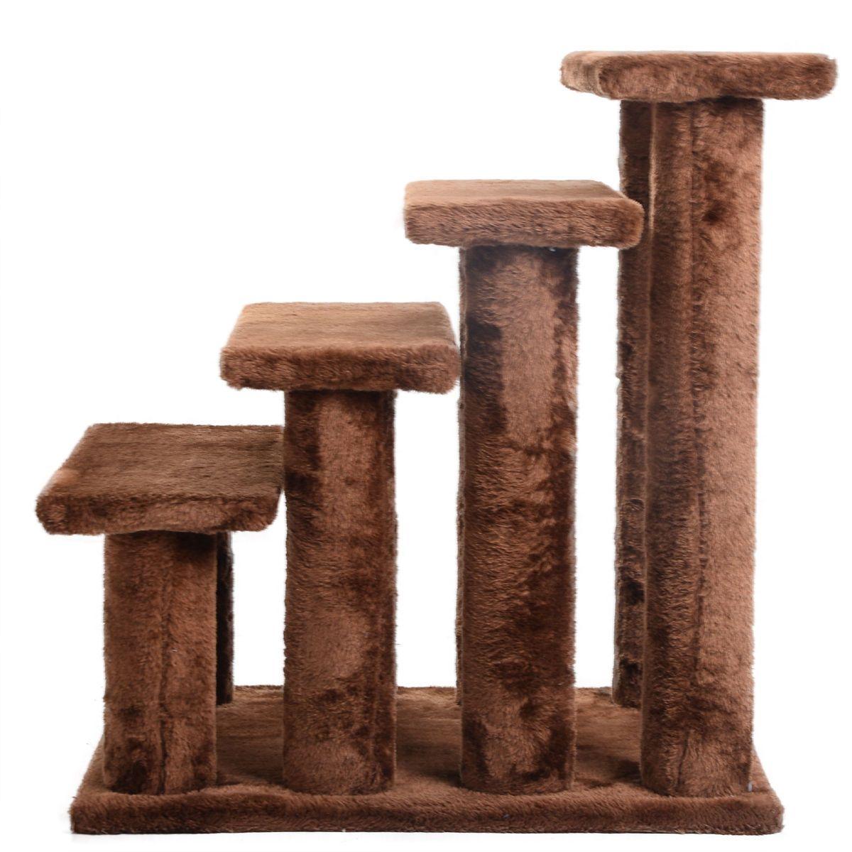 21'' Cat Tree Pet Ramp 4Step Stairs Dog Ladder Stairway